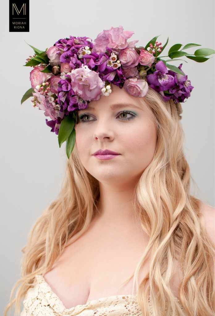 Bridal Beauty Editorial | Brides in Bloom | Floral Inspired Wedding Hairstyles & Floral Crowns #purple #lavender