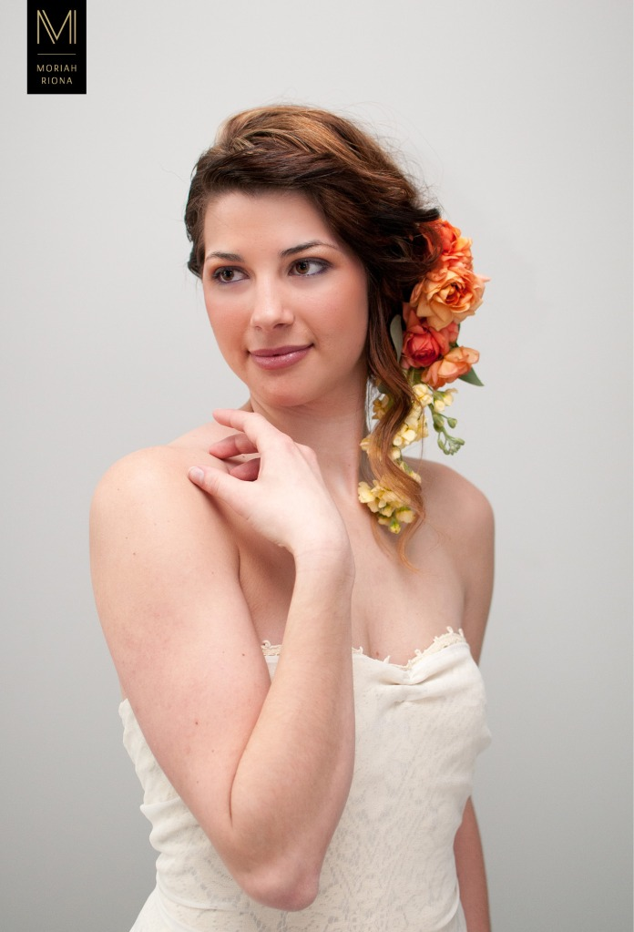 Bridal Beauty Editorial | Brides in Bloom | Floral Inspired Wedding Hairstyles & Floral Crowns | autumn colors