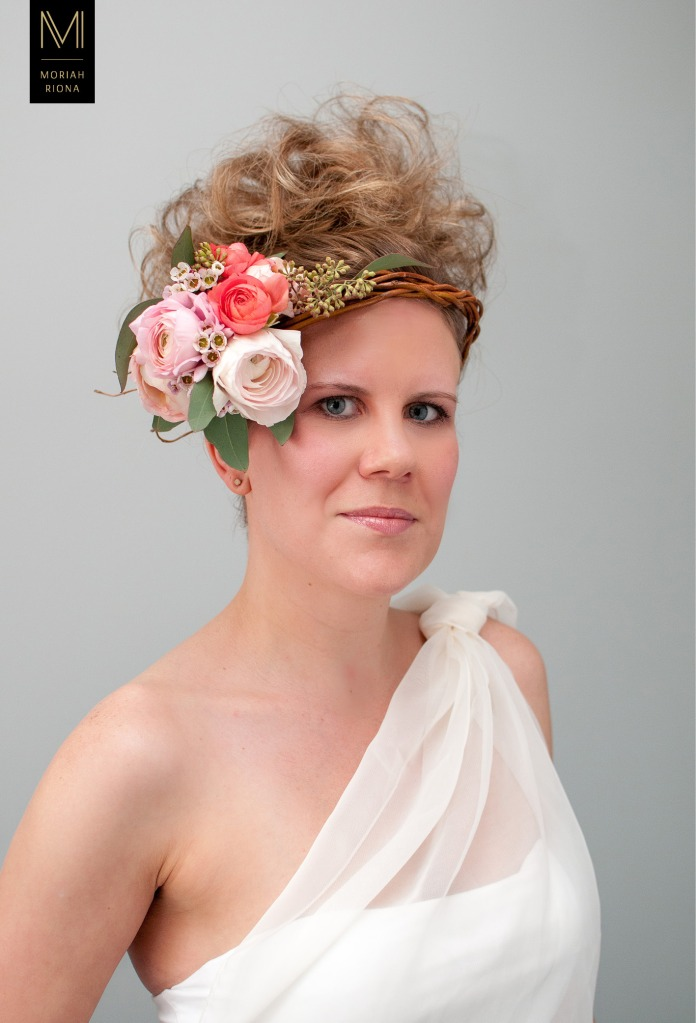 Bridal Beauty Editorial | Brides in Bloom | Floral Inspired Wedding Hairstyles & Floral Crowns #pink