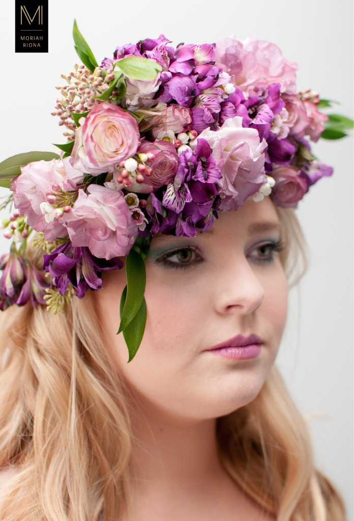 Bridal Beauty Editorial | Brides in Bloom | Floral Inspired Wedding Hairstyles & Floral Crowns | pink and purple