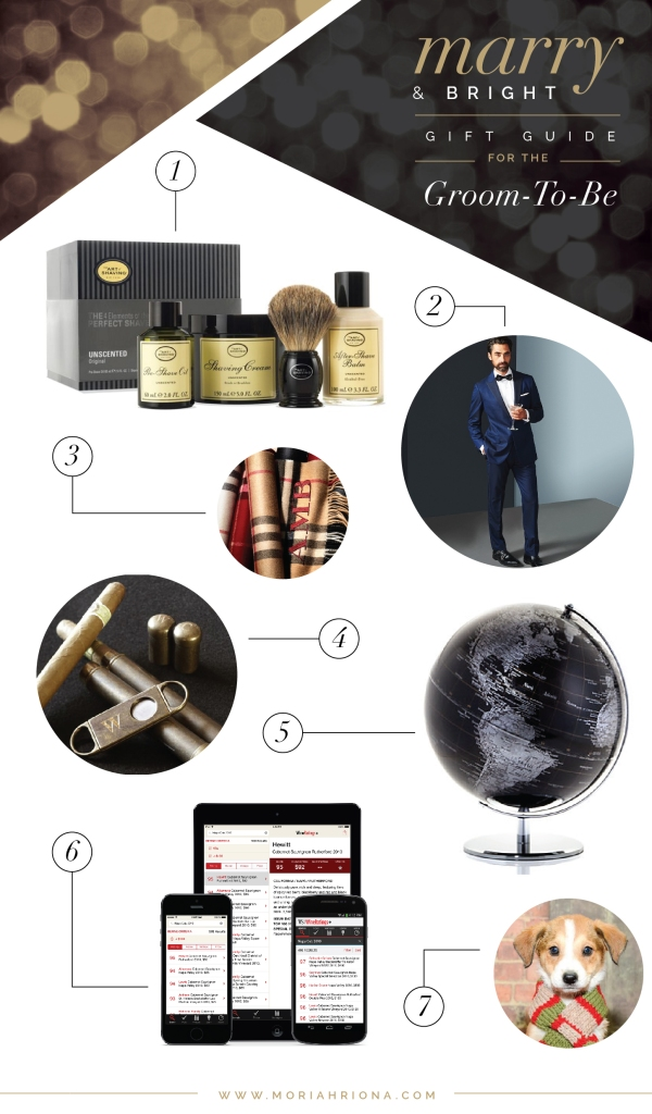 christmas gift guide for the groom to be from moriahriona www