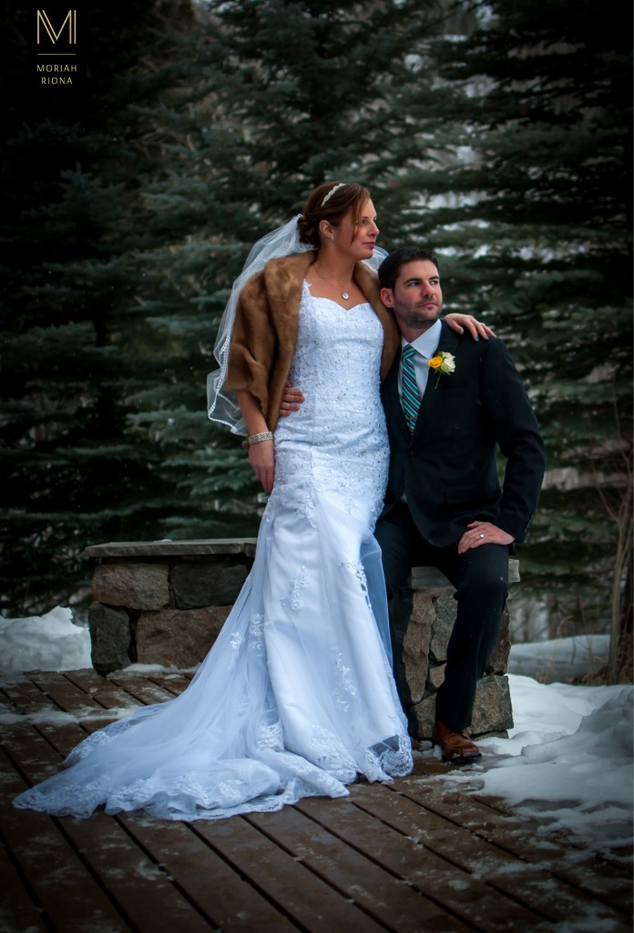 A Snowy Mountain Wedding by Moriah Riona | Colorado Wedding Photographer